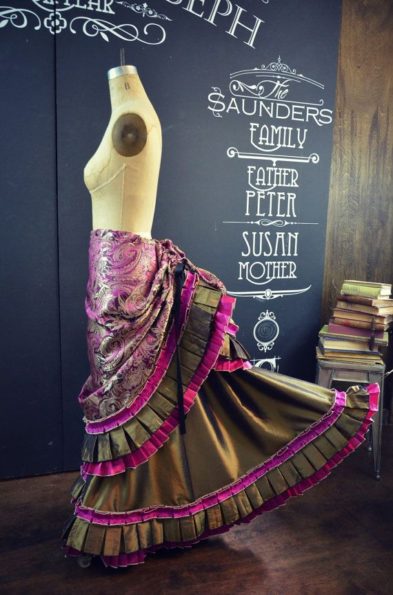 Gorgeous Victorian Steampunk Fuchsia Brocade by TheDemimonde