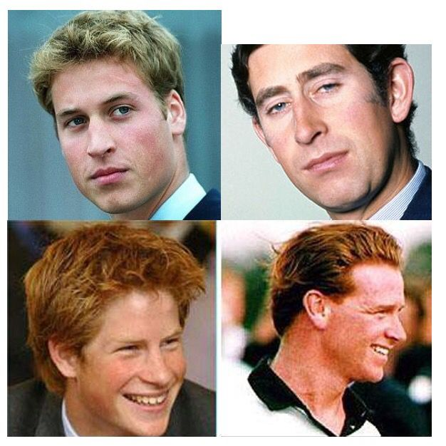 Charles amd William.  Harry & James Hewitt . hmmm....dies makes one think, although I think it's coincidence