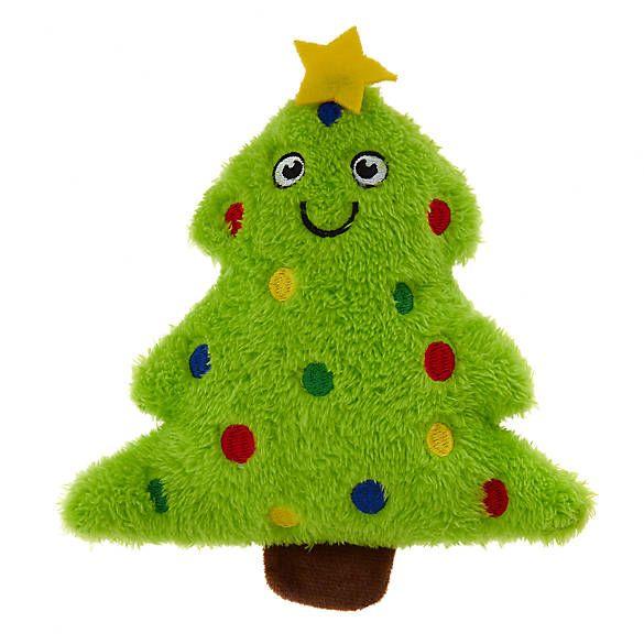 Merry Bright Holiday Tree Dog Toy Plush Squeaker Dog Plush