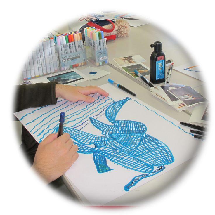 waC(ワック)特別支援学校を卒業したメンバーを中心とした、美術活動