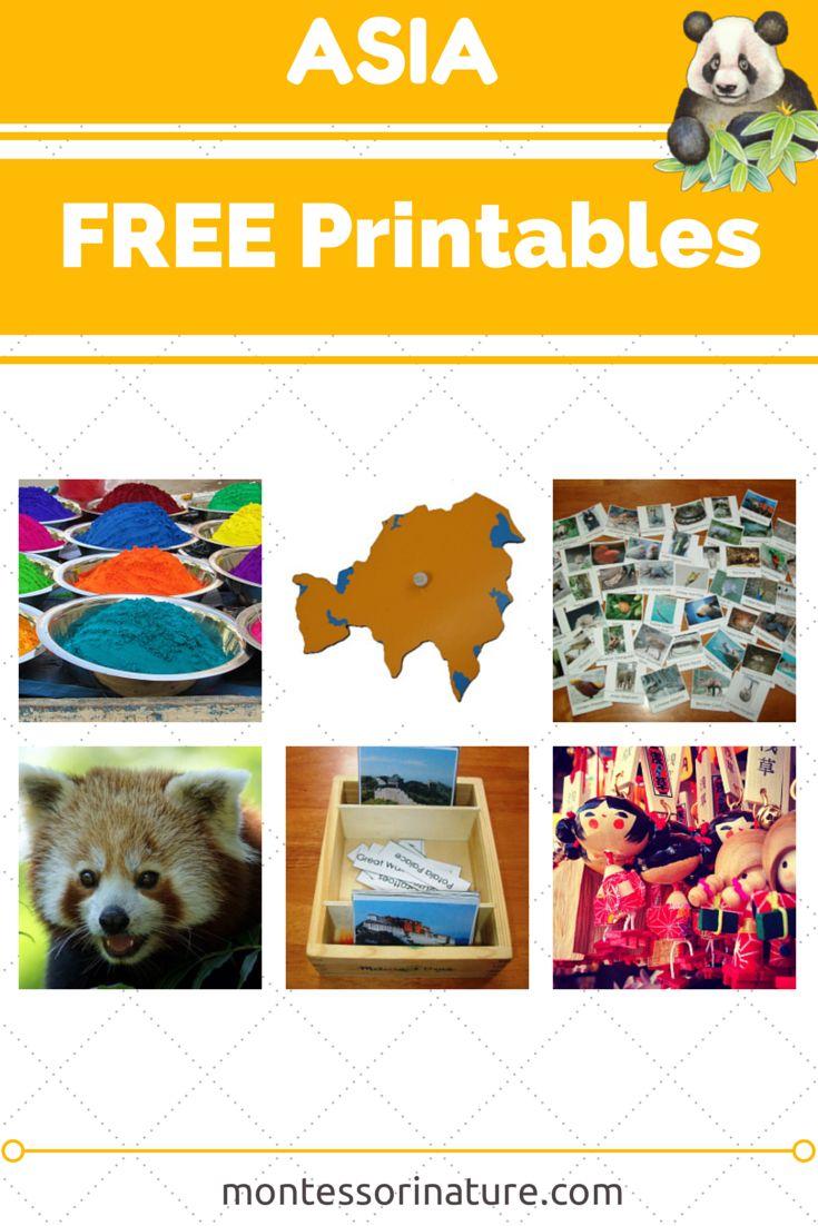Asia - Free Printables. Resources for the Montessori Classroom via Montessori Nature