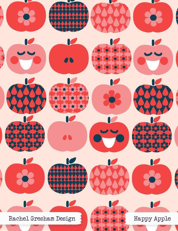 Happy Apple   http://rachelgreshamdesign.com/portfolio/