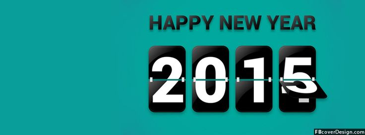 Scoreboard Happy New Year 2015 Timeline Covers | fbcoverdesign.com