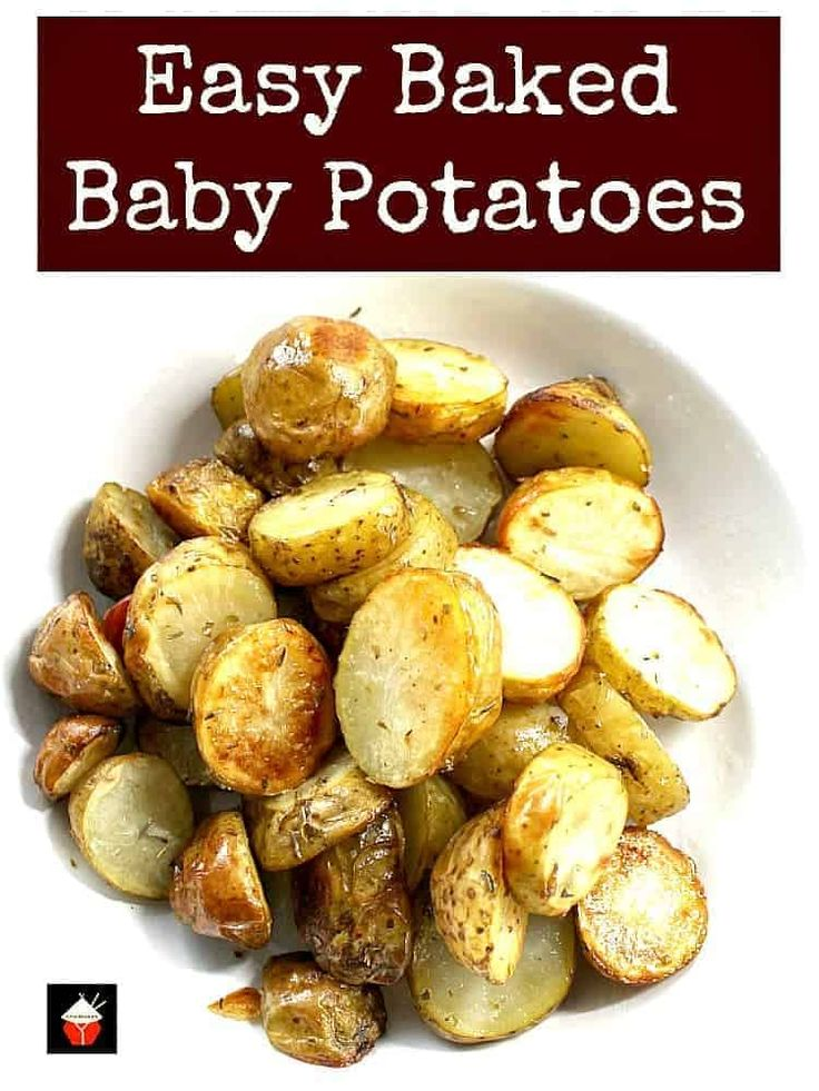 No-Fuss, Easy, Oven Roasted Baby New Potatoes Recipe. A ...