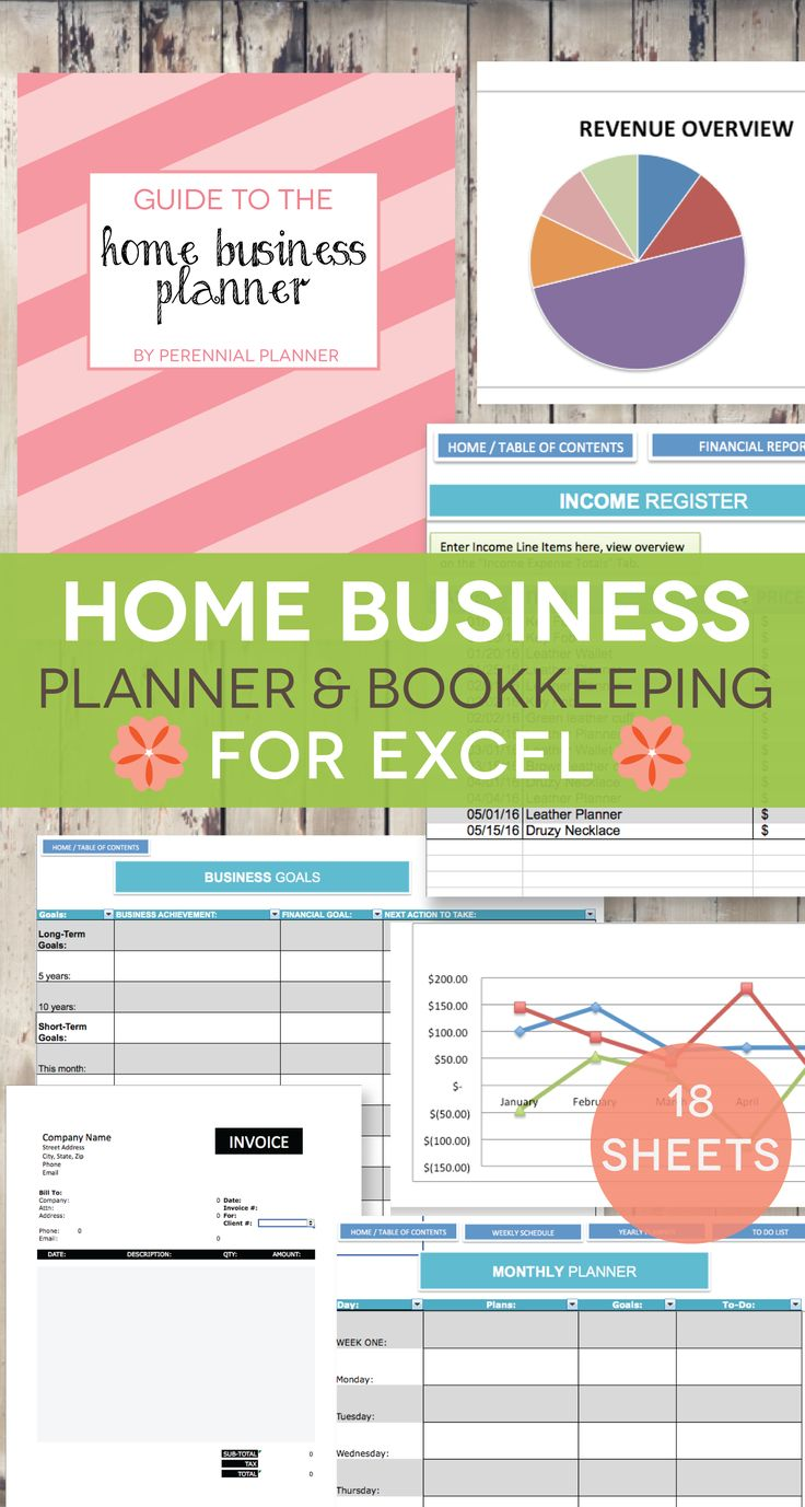 Organize your small business in one place with this very thorough Home Business Planning Kit. Track your accounting, business goals and schedule, mileage, inventory, and much more.