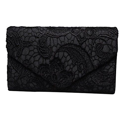 New Trending Clutch Bags: Fashion Road Evening Clutch, Womens Floral Lace Envelope Clutch Purses, Elegant Handbags For Wedding And Party Black. Fashion Road Evening Clutch, Womens Floral Lace Envelope Clutch Purses, Elegant Handbags For Wedding And Party Black   Special Offer: $12.38      277 Reviews Features: Material: High Quality Lace Size: 8.7*2.*5.5 inch Color: Apricot/Blue/Black Package: A Evening Clutch Design ...