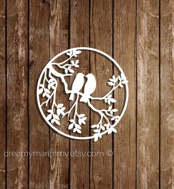 Paper cutting template DIY card Birds papercut by DreamyMarimmy