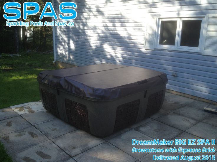 Portable Plug-in Style Hot Tub. The Dream Maker Big EZ II Delivered in Nova Scotia. Ready for Winter. Neat! www.sparklingpoolsandspas.ca