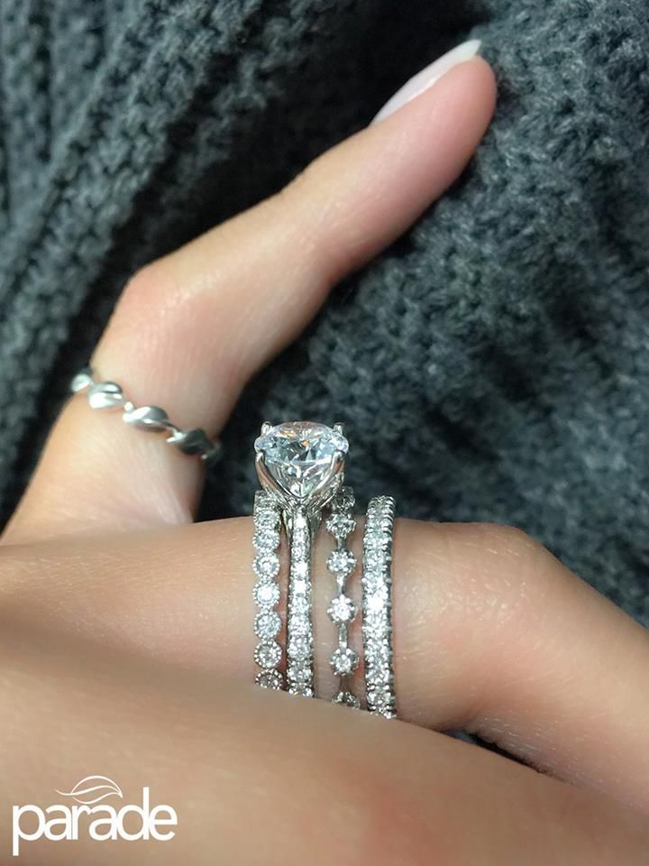 Best 25 Stacked engagement ring ideas on Pinterest Stacked