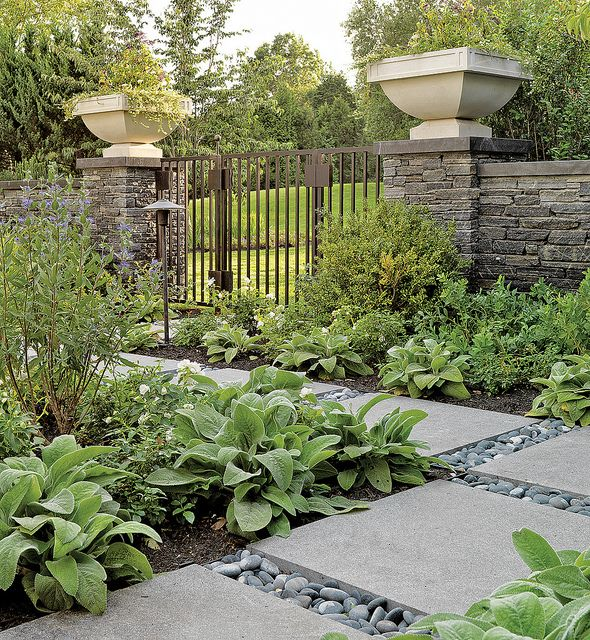 An Appealing Stone Walkway In The Backyard   Landscape Architecture By  Katherine Field And Associates