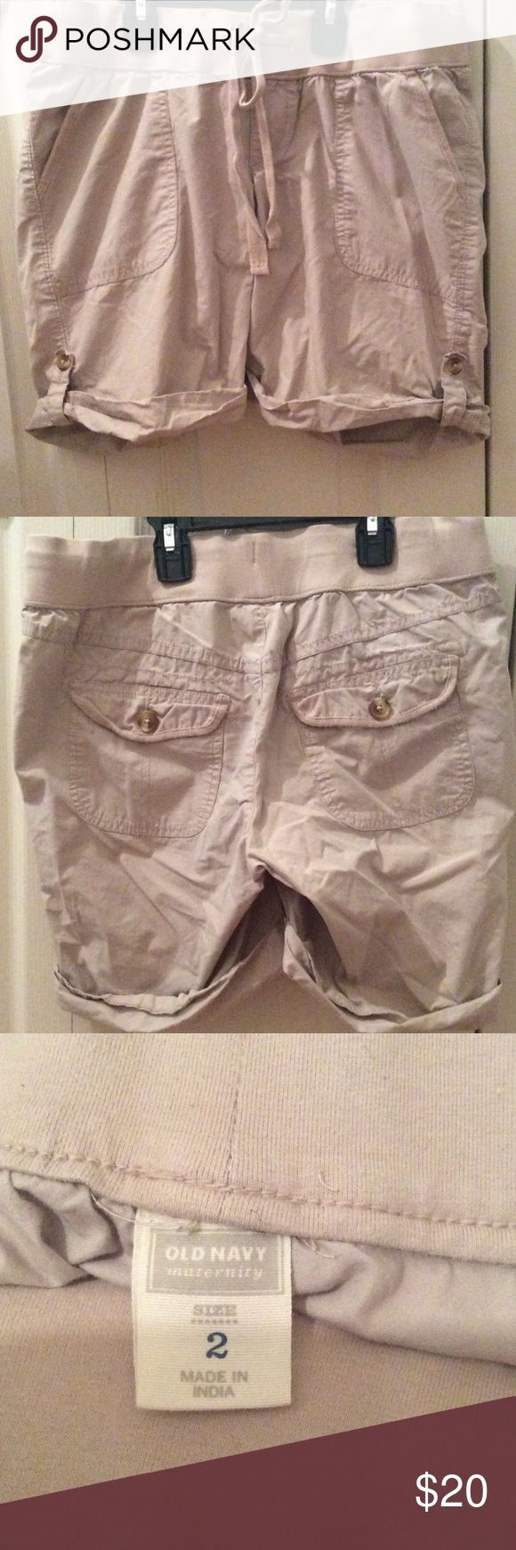 Old Navy Maternity Shorts Khaki Old Navy shorts. Only wore a couple times. Old Navy Shorts