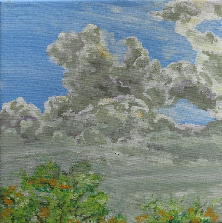 Painting - Sky and clouds - artist Lars Stounberg 2015