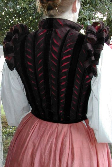 Women's doublet - pinned here because of the slashing and shoulder details