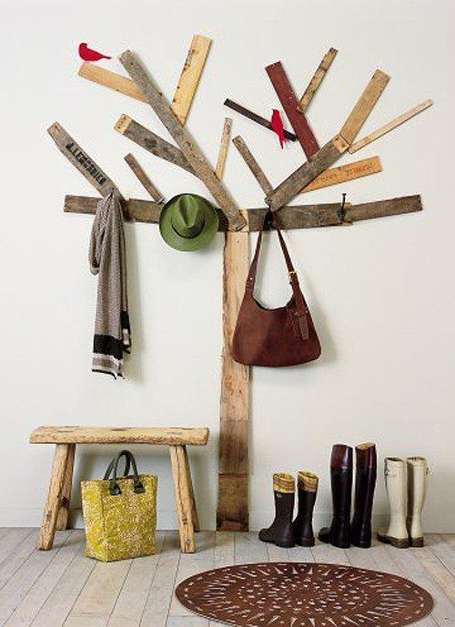 Csináld magad újrahasznosított deszka fa fogas