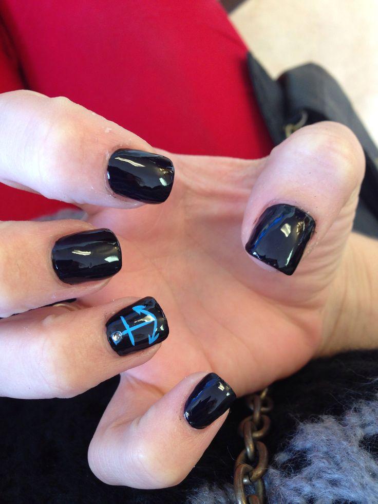 Anchor Nail Design My Style Pinterest Anchor Nail