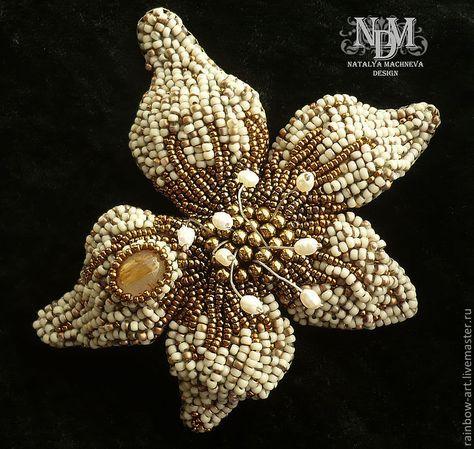 """Купить Брошь """"Каменный цветок"""" - серебряный, серый, бронзовый, бронза, цветок, брошь, брошь цветок"""