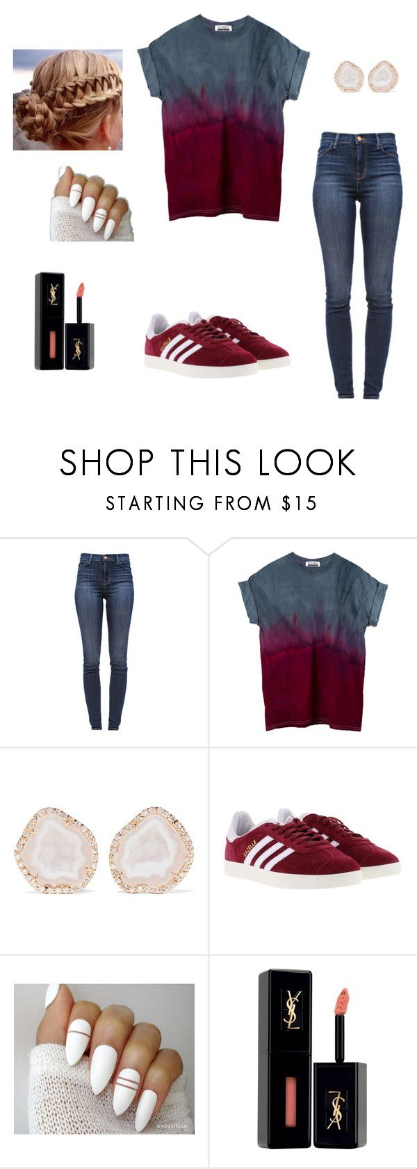 """""""Lazy Girls love Lazy Days"""" by brophyash ❤ liked on Polyvore featuring J Brand, Kimberly McDonald, adidas and Yves Saint Laurent"""