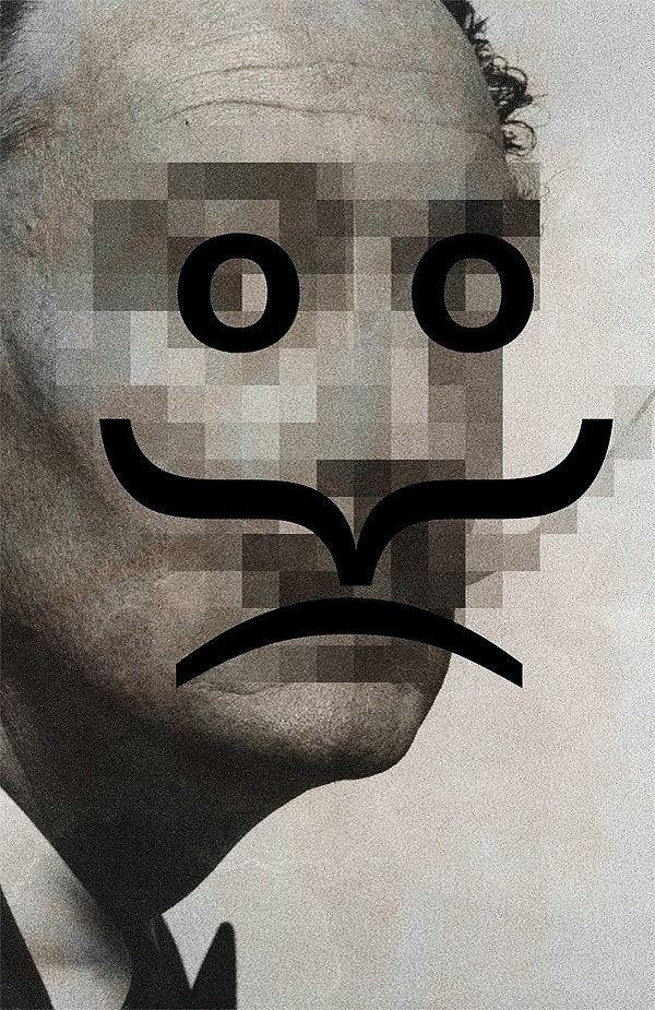 Retro Pop Celebrities Imagined With Emoticon Faces - DesignTAXI.com