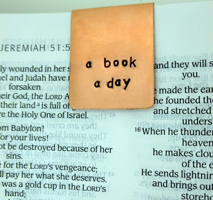 a book a day... keeps the doctor away bookmark. Hand Stamped Bookmark. $11.00, via Etsy.