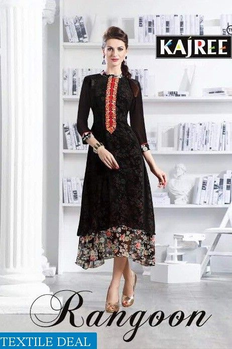 Shop Now Rangoon Ready made Fancy Fabrics Kurtis Catalogs Collection at Affordable Rate #TextileDeal #WomensClothing #FancyKurtis