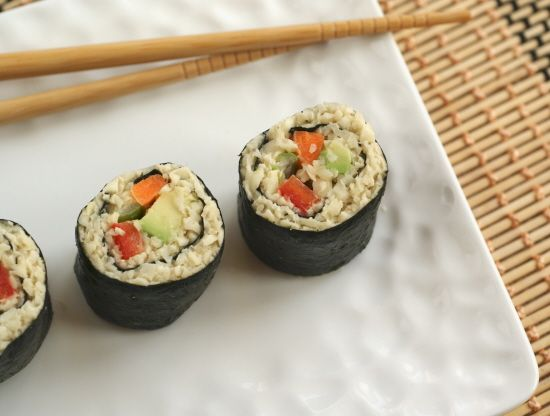 "Raw Sushi with Parsnip ""Rice"""