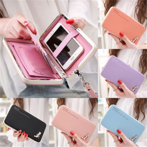 New Women Lady Leather Wallet Purse Long Handbag Clutch Bag Phone Card Holder PU