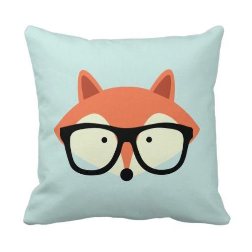 Cute Red Fox Decorative Pillow