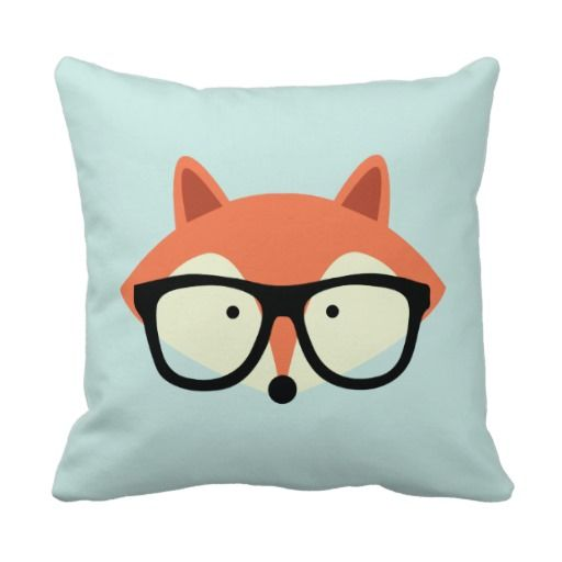 Cute Red Fox Decorative Pillow