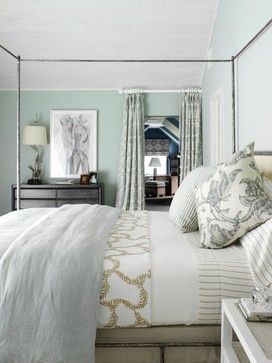 Beachy Bedroom With Bedding From Www Stellastore Com And Palladian Blue By Benjamin Moore
