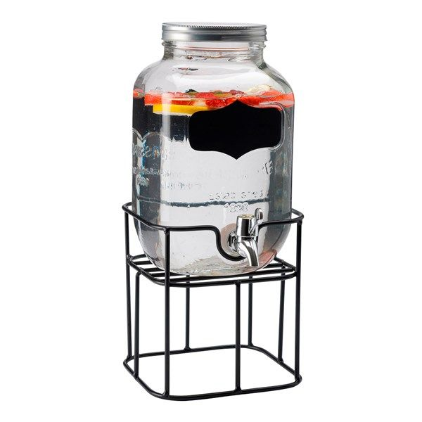 Sommarens måste är en tappkransbehållare. Servera läsk, lemonad eller bål till vardags eller fest i denna stilrena behållare.