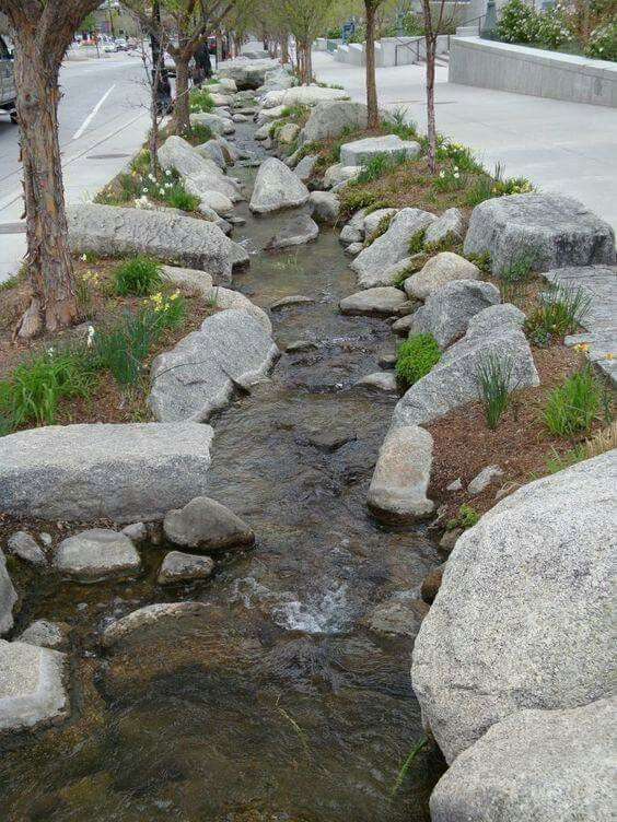 In Street creek bed done right
