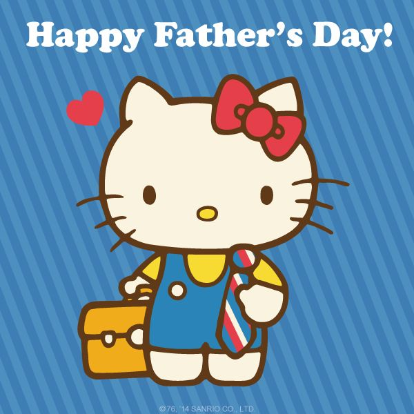 Hello Kitty Happy Father's Day Pictures, Photos, and Images for Facebook, Tumblr, Pinterest, and Twitter