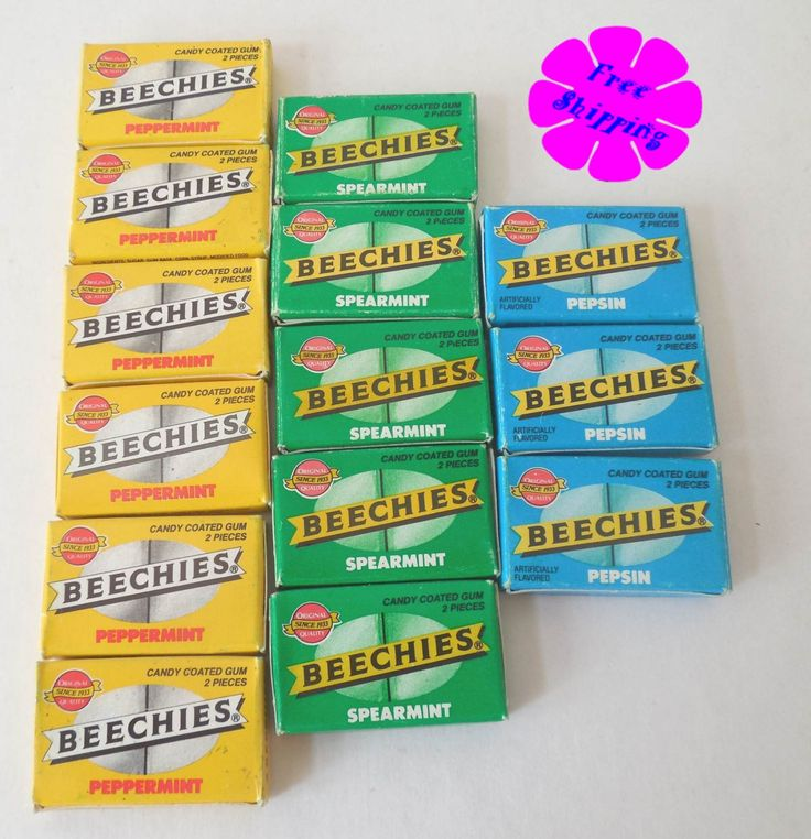 Vintage Beechies Candy Coated Gum Nabisco Brands, Inc. 14 Boxes by VintageSistersx2 on Etsy