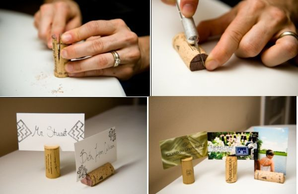 Cork place card holders. 31 Things You Never Knew You Could Do With Cork