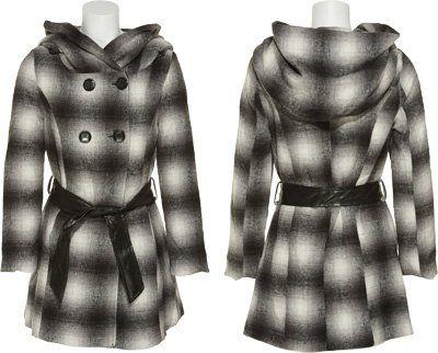 #LAST #KISS Wool-Blend Americana Plaid Jacket W/ Belt [9845LK4], Americana #Plaid   really love it!   http://amzn.to/HBLq9v