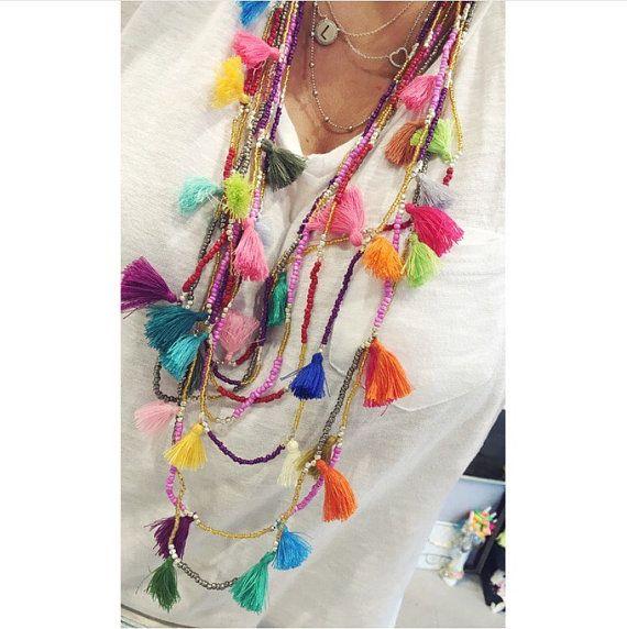 Collana nappine multicolor Gipsy style di Angelinaconceptstore
