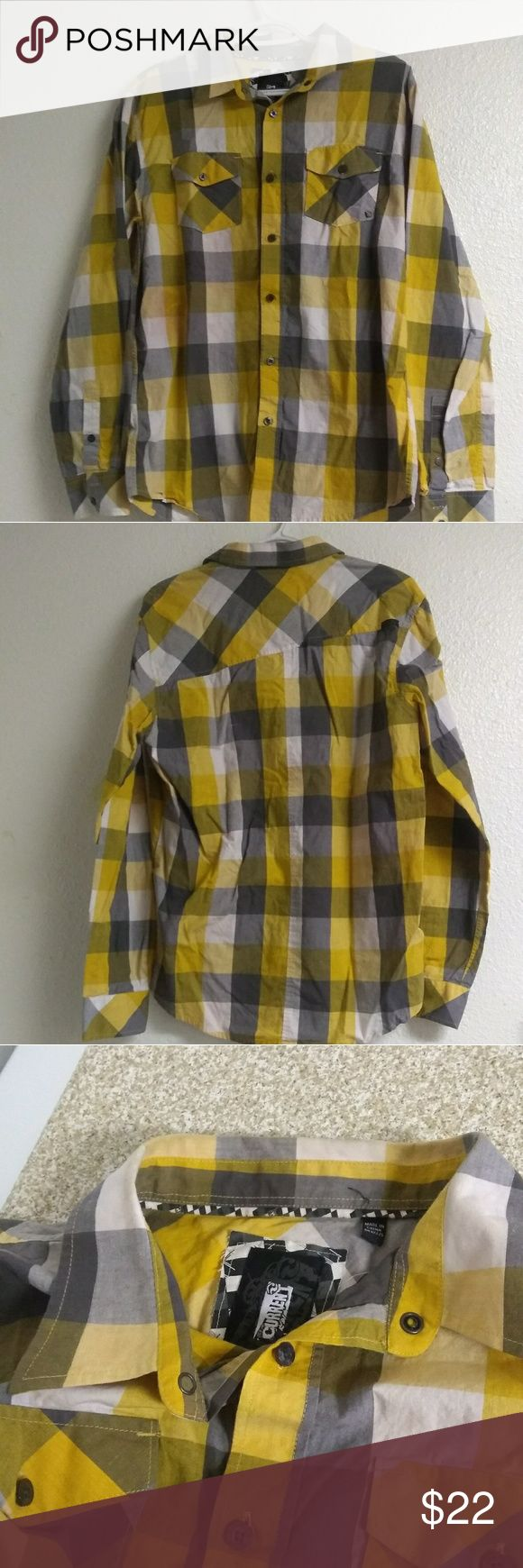 Ocean Current Long Sleeve Plaid Shirt. Yellow ocean current long sleeve plaid shirt in medium size. Bundle and save. Ocean Current Shirts Casual Button Down Shirts