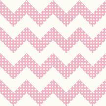 Pink Chevron Wallpaper with polka dots. KS2313 - Cool Kids by York Wallcoverings