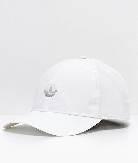 adidas Relaxed Modern II White Strapback Hat  631e0c4ce8f4