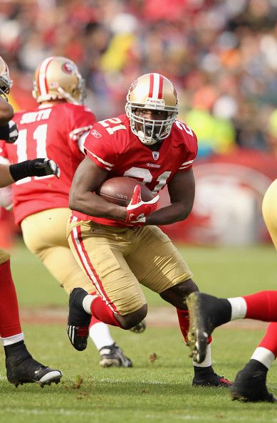Frank Gore, San Francisco 49ers. If i had another son I would have Frank, if his mom would let me have him! :)