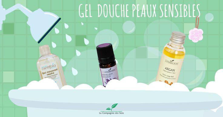 Gel douche spécialement conçu pour prendre soin des peaux sensibles !