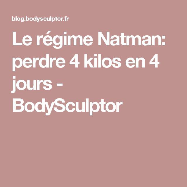 Le régime Natman: perdre 4 kilos en 4 jours - BodySculptor ...