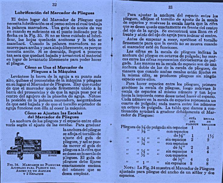 Marcador de pliegues. Pág. 32/33
