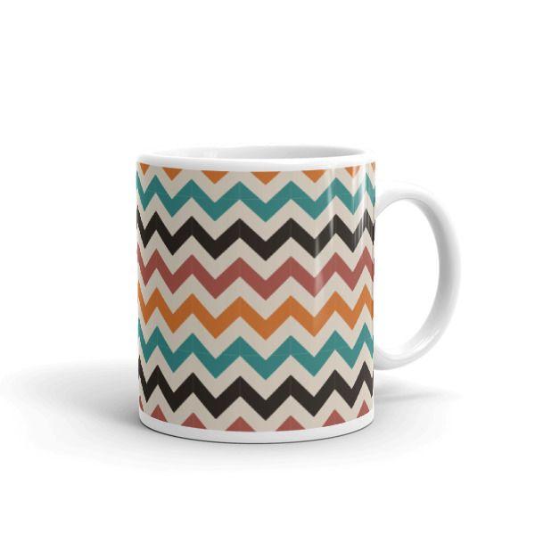 Triangle Waves Pattern Mug