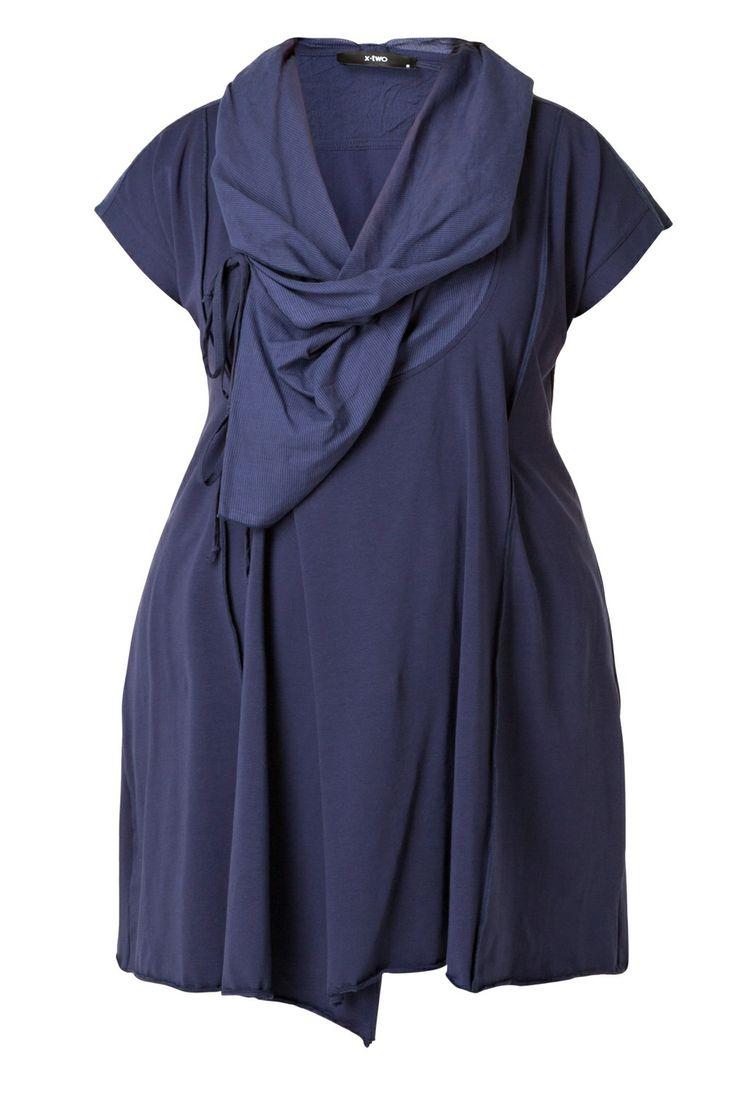 Vest Hewett, X-two Cardigans :: Grote maten - mode online | Gratis verzendig | Bagoes fashion
