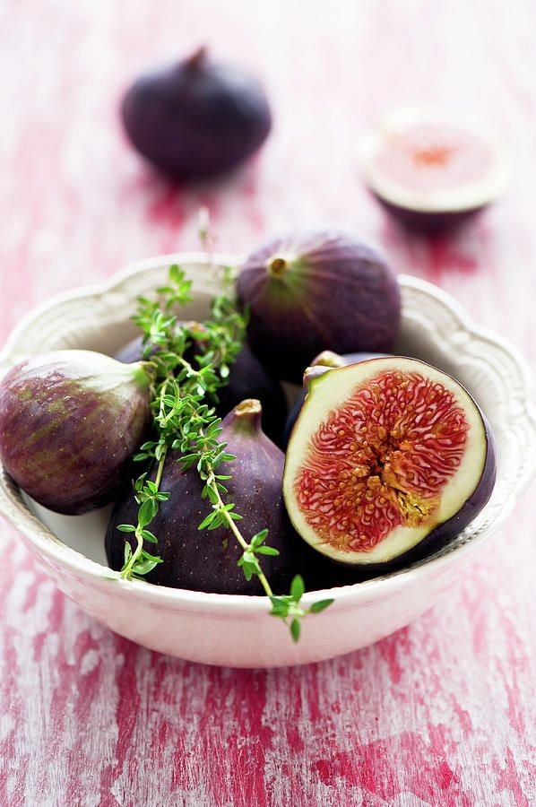 Vertical Photograph - Bowl Of Figs by Verdina Anna