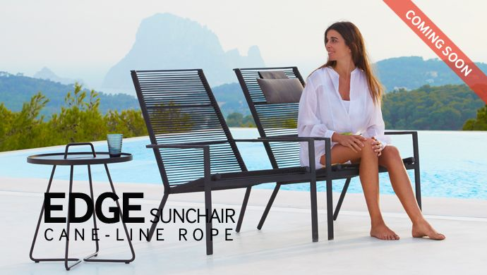 Edge outdoor highback chair is made with one of our newly introduced materials - #Caneline ROPE. It is of cause almost maintenance free and can be used in your garden all year round.   #Outdoor garden & patio design furniture. #Gardenfurniture