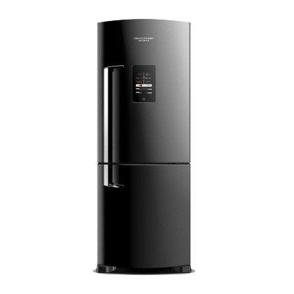 Geladeira Preta 422 Litros Frost Free Ative! Inverse Brastemp - BRE50NEANA - (AxLxP) 1.89 x 71.1 x 70.7 cm
