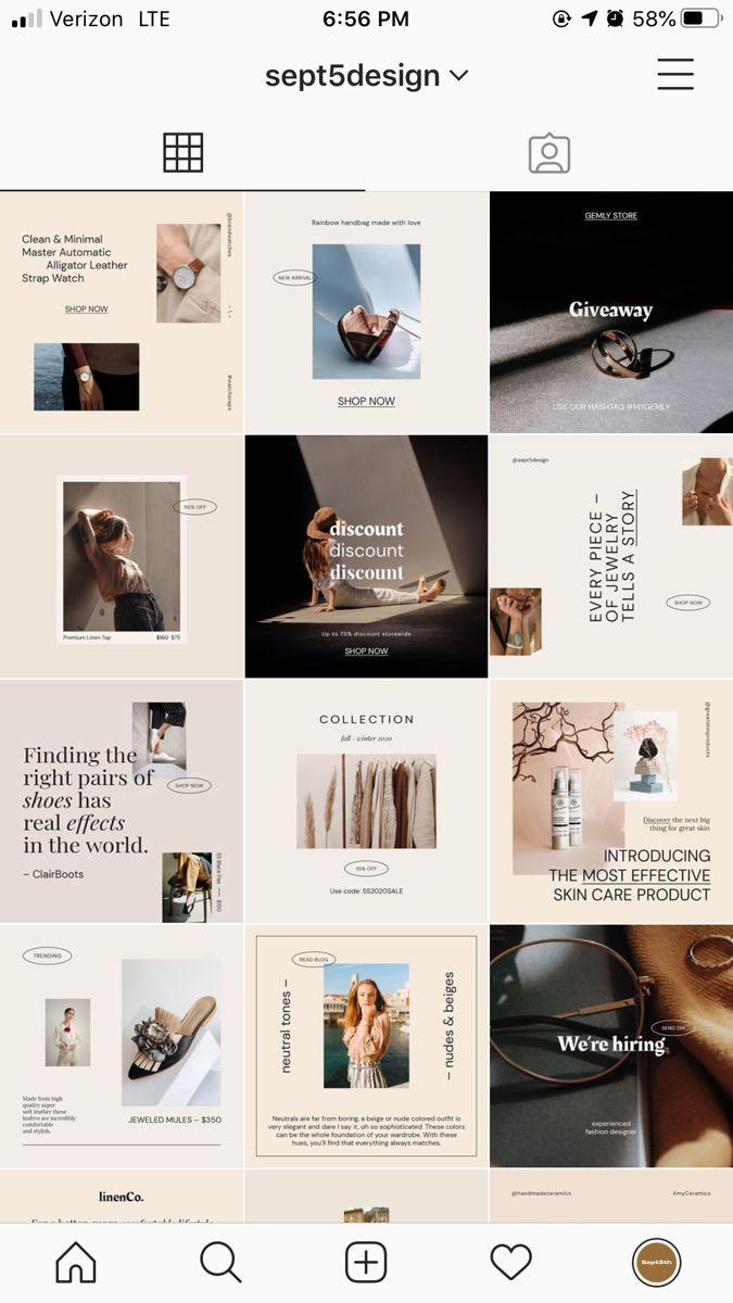 Online Stores Social Media Templates Instagram Template Design Instagram Design Instagram Feed Ideas