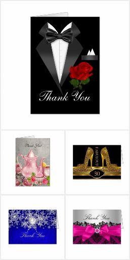 Thank You Elegant Folded Cards